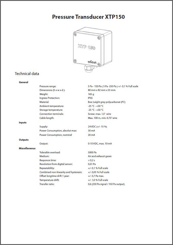 Data sheets - Chimney fans & Waste heat recovery
